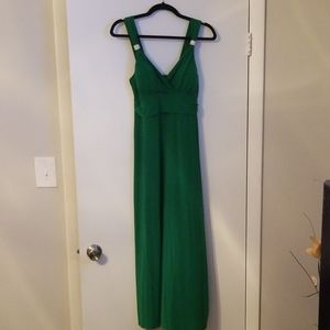 Green party dress